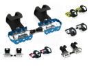 Single Speed Fixie Pedals with Straps Anodized Aluminum