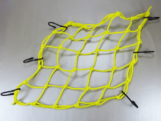 Bicycle cargo rack and transport net