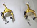 Rennrad Singlespeed Seitenzug-Bremsen Paar Aluminium kaltgeschmiedet vorne und hinten