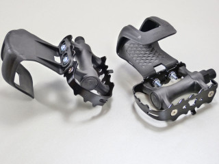 Singlespeed Fahrrad Pedale mit Schlaufen Aluminium Eloxiert