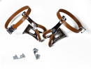 Leather bicycle pedal straps