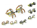Yellow Race Bicycle Pedals with Toe Clips