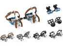 Blaue Rennrad Fahrrad Pedale mit Pedalhaken
