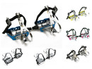 Road Bike Aluminum Pedals with Toe Clips and Single Strap