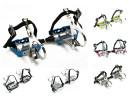 Rennradpedale mit Retrohaken und einfachem Nylonriemen