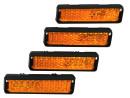 4x Set of Reflectors for Pedals Orange
