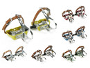 Road Bike Aluminum Pedals with Retro Toe Clips and Single...