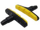 Promaxx V-Brake Shoe Pair for Alu-Rims in Yellow-Black
