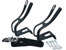 Bicycle Clips Pedal Hook Set Including Nylon Strap